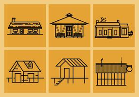 Shack Vector Illustrations
