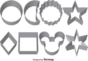 Set Of Vector Cookie Cutters