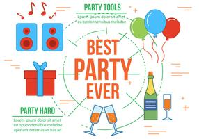 Free Best Party Vector