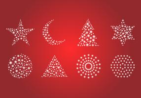 Free Set of Glitter and Sparkling Object Vector.