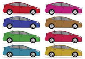 Set Of Prius Vector