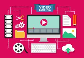 Video Editing Infographic Vector Template