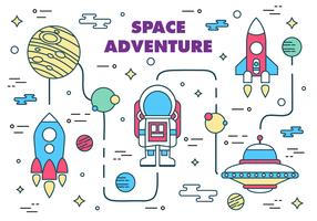 Free Space Adventure Vector Illustration