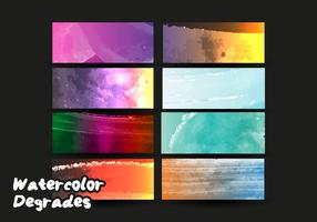 Degrade Watercolor Vector Free