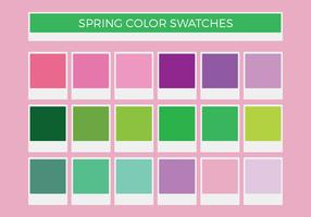 Free Spring Vector Color Swatches