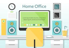 Free Vector Home Office Illustration