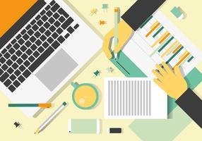 Free Colorful Vector Designers Desk Design