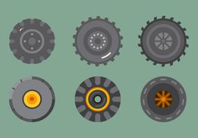 Free Tractor Tire Vector 2
