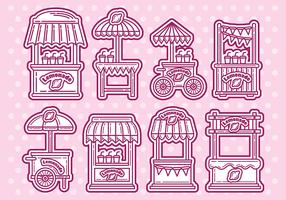 Lemonade Stand Vector Icons
