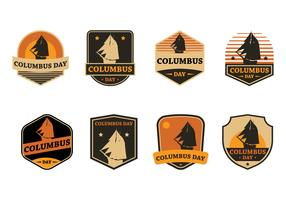 Columbus Day Badge