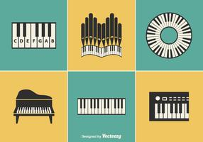 Free Keyboard Instrument Vector Designs