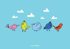 Hand Drawn Bird Vectors