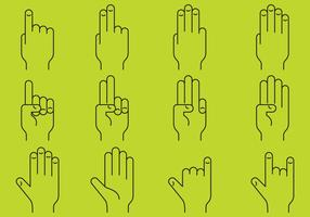 Hands Line Icons