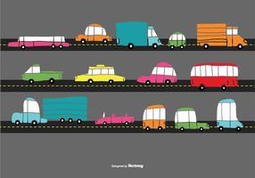 Hand Drawn Traffic Car Vectors
