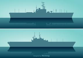 Free Aircraft Carrier Vector Set