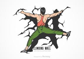 Climbing Wall Vector Illustration