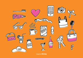 Fun Hand Drawn Accessories Vectors