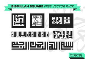 Bismillah Square Free Vector Pack