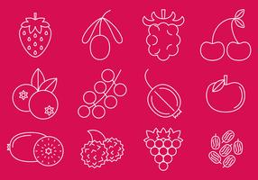 Berries Line Icons