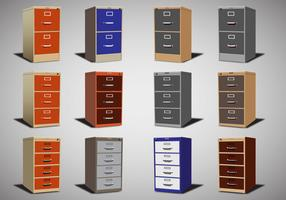 File Cabinet Vector set