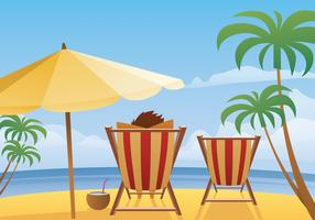 Summer Beach Landscape Vector