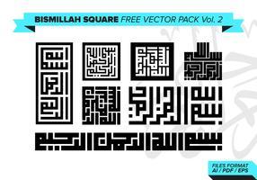 Bismillah Square Free Vector Pack Vol. 2