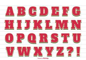 Cute Summer Vector Alphabet