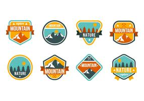 Free Mountain and Nature Badges Vector