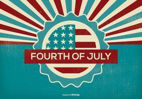 Retro Fourth of July Illustration