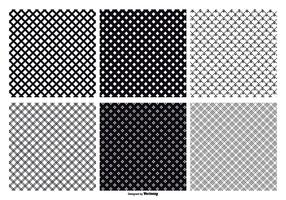 Seamless Crosshatch Vector Patterns
