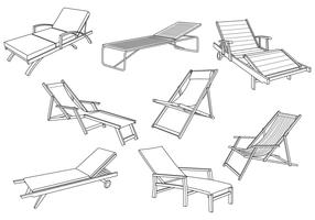 Free Deck Chair Vector
