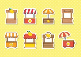 Free Cute Lemonade Stand Vector