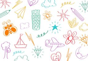 Free Kids Stuff Doodle Vector