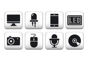 Free Technology Button Icons