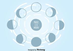 Phase Of The Moon Vector