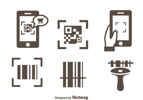 Barcode Scanner Icons Vector