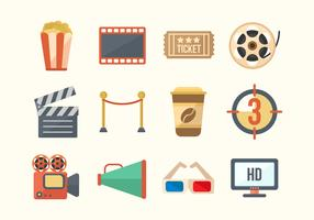 Free Cinema Movie Vector Icons