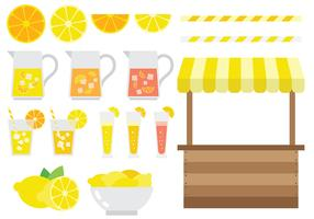 Free Lemonade Stand Icons Vector