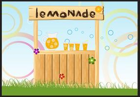 Vector Illustration of Lemonade Stand