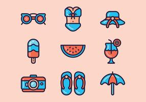 Beach Day Icon Set