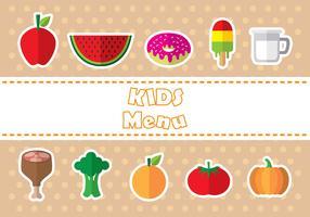 Iconos de iconos de menú de niños