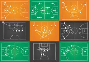 Sport Playbook Vector Set