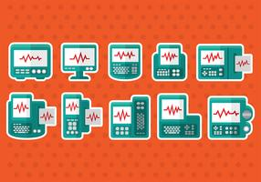 Heart Monitor Vector Icons