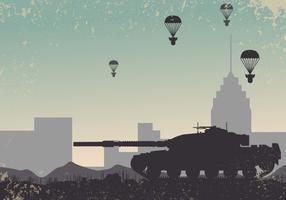 World War 2 Tank Background Vector