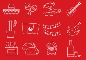 Cinco De Mayo Line Icons