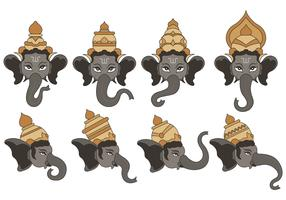 Set Of Ganesh Vector