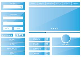 Template Blue Web Kit
