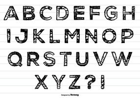 Cute Hand Drawn Messy Alphabet