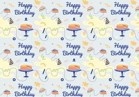 Vector Birthday Pattern