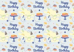Vector Geburtstag Muster